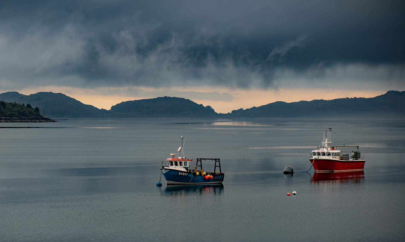 Fishing boats on Loch Torridon